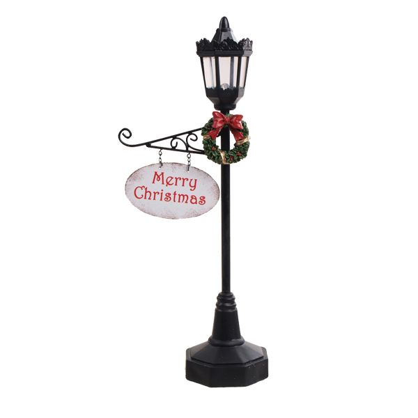 Willow Brooks Secret Christmas Lamp Post W/white Merry Christmas Text For  North Pole