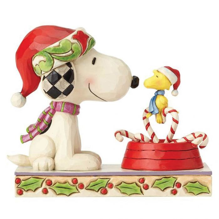 4057678 candy cane christmas snoopy and woodstock jim shore peanuts for north pole christmas - Candy Cane Christmas Shop