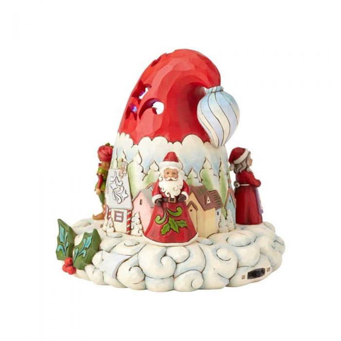 Hats Off To Christmas.Jim Shore Hats Off To Christmas Magic Lighted Santa Hat 4060107