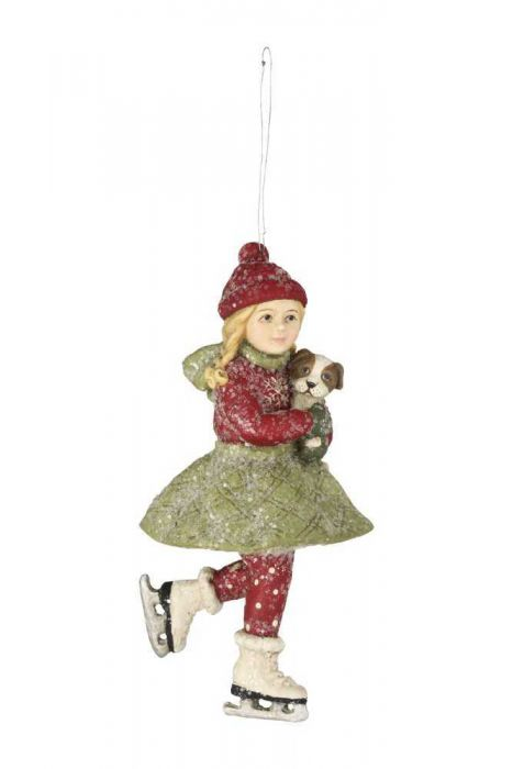 Bethany Lowe Christmas Ornaments.Skating Clare Ornament