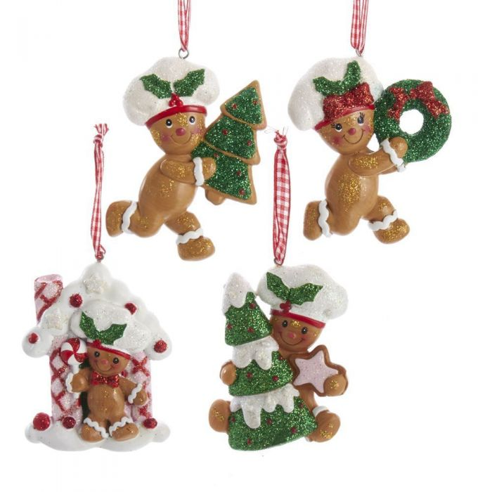 Gingerbread Christmas Tree.Gingerbread Children Cookie Ornaments 4 Assorted